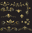 A set of vintage design elements vector image vector image