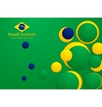 Abstract background in Brazilian colors vector image vector image