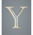 Abstract golden letter Y vector image
