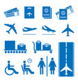 airline colourless signs set passports and vector image vector image