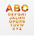 alphabet letters made from autumn leaves vector image vector image