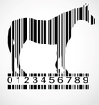 Barcode horse image vector | Price: 1 Credit (USD $1)