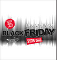 big sale and super offer black friday background vector image