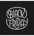 Black Friday lettering on dark background vector image