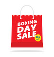 boxing day sale shopping bag vector image vector image