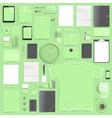 branding mockup lime set vector image vector image