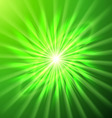 Bright space star in green vector image vector image