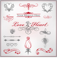 calligraphy set love and heart vector image vector image