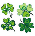 clovers leaves set vector image vector image