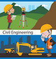 construction civil engineering land survey vector image vector image