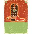 cowboy christmas card vector image vector image