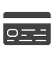 credit card glyph icon business and finance vector image vector image