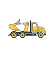 digging truck vector image vector image