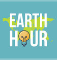 earth hour banner vector image vector image