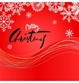 Elegant Red Christmas Snowflakes Card Merry vector image vector image