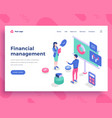 financial management concept office people vector image vector image