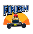 Finish Gokart Race vector image