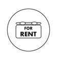 for rent icon flat thin line vector image