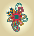 hand draw henna floral design element tattoo vector image
