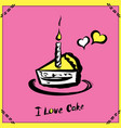 hand drawn cake poster vector image vector image