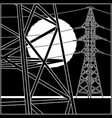 high-voltage power lines vector image vector image
