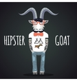 Hipster goat vector image vector image