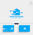 home network connection logo template vector image