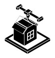 house d printing icon simple style vector image vector image