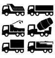 industrial trucks icons set vector image vector image