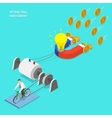Investment attraction flat isometric vector image