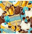 Jewish Hanukkah celebration seamless pattern with vector image vector image