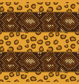 leopard and snake skin seamless pattern vector image vector image