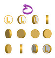 letter l in circle rotation sequence sprite sheet vector image vector image