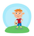 little boy in shirt and vector image vector image