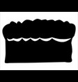loaf bread vector image vector image