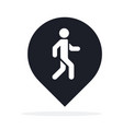 location pin with pedestrian icon flat isolated vector image