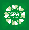 logo with hearts for spa salon vector image vector image