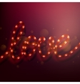 LOVE lighted up in red neon colors EPS 10 vector image vector image