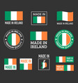 made in ireland labels set republic ireland vector image vector image