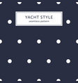 navy blue polka dot pattern vector image