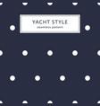 navy blue polka dot pattern vector image