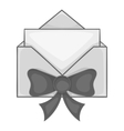 New year letter icon black monochrome style vector image vector image