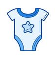 newborn bodysuit line icon vector image vector image