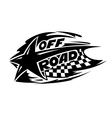Off Road motor sport event icon vector image vector image