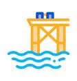 oil sea platform icon outline vector image