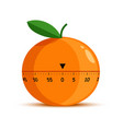 orange shape timer or time measuring tool isolated vector image vector image