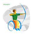 physically disabled archer with abstract patterns vector image vector image