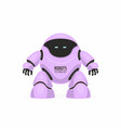 purple robot vector image vector image