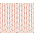 Red Retro Isometric Seamless Grid Layout - Thirty vector image vector image