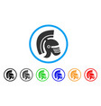 Rome helmet rounded icon vector image